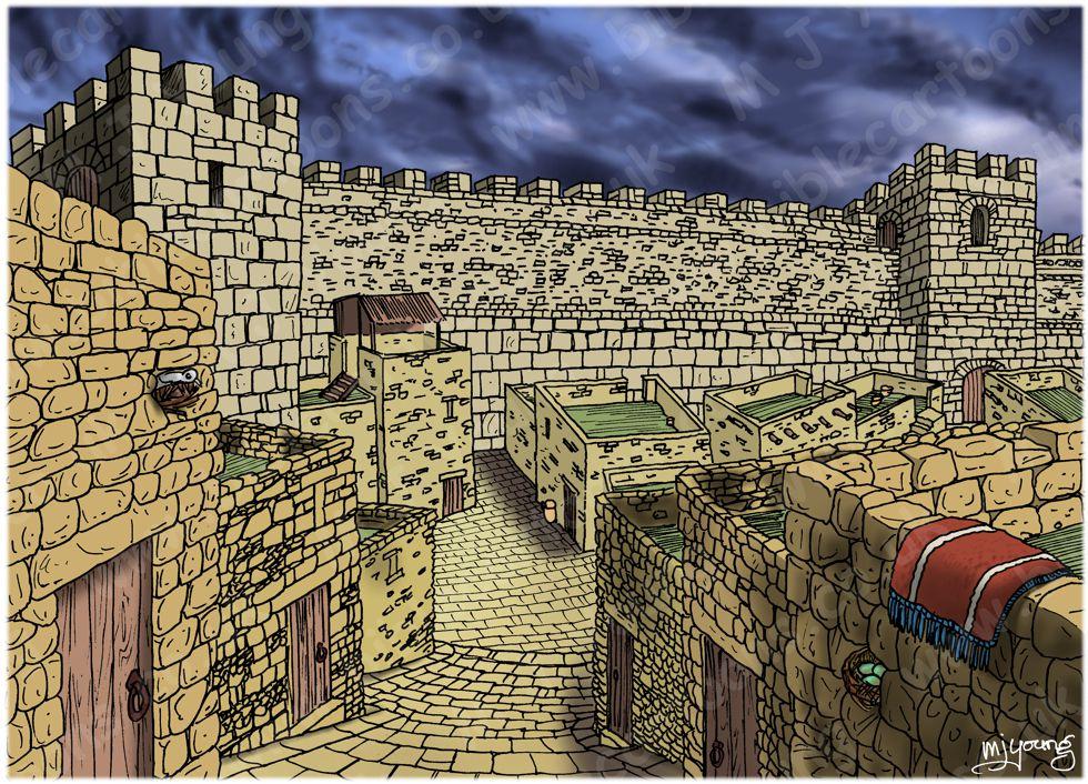 Acts 02 - Pentecost - Scene 01 - Inside Jerusalem - Townscape 980x706px col.jpg