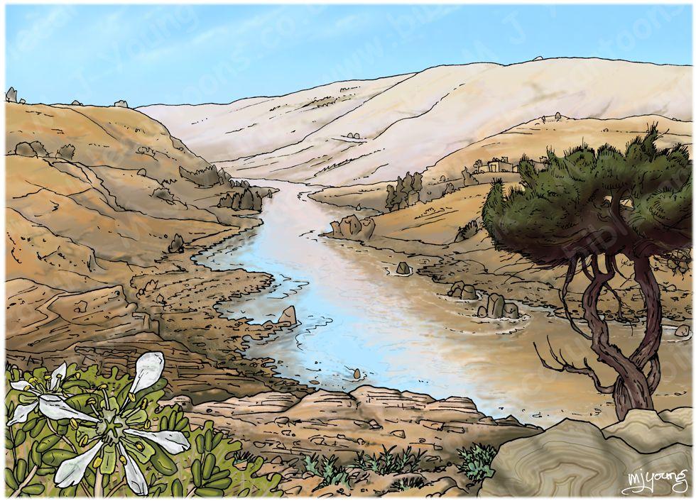 Acts 02 - Pentecost - Scene 10 - 3000 Baptised - Landscape 01 980x706px col.jpg