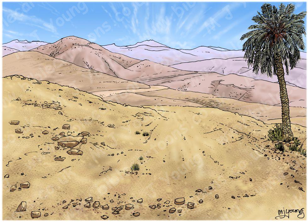 Acts 08 - Philip & the Ethiopian eunuch - Scene 01 - Road - Landscpae 980x706px col.jpg
