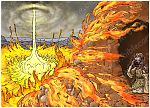1 Kings 19 - The Lord appears to Elijah at Horeb - Scene 03 - Fire 980x706px col.jpg