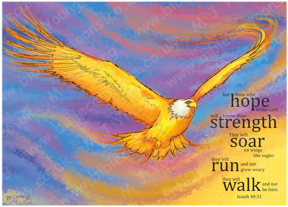 Isaiah 40 - Fiery Eagle (Version 01 - Crystallized backgnd with text) 980x706px col.jpg