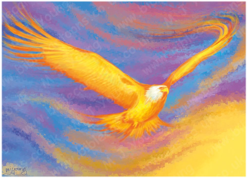 Isaiah 40 - Fiery Eagle (Version 02 - Crystallized backgnd without text) 980x706px col.jpg