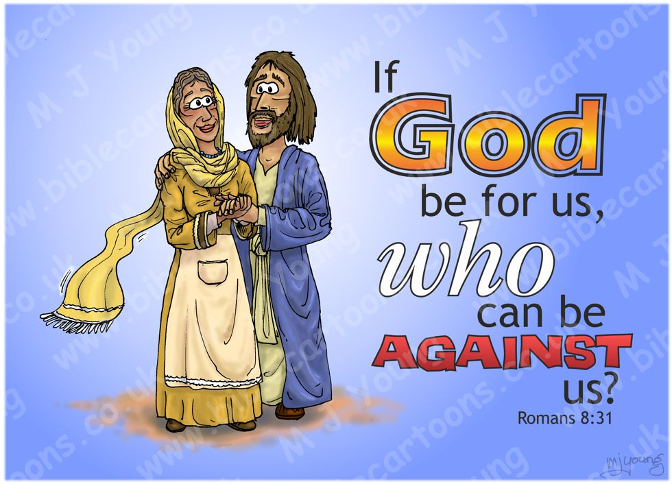 Romans 08 - If God be for us who can be against us? (Text Version) 980x706px col.jpg