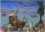 Mark 04 - Jesus calms a storm - Scene 01 - Crowds on shore 980x706px col.jpg