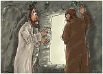 John 20 - The Resurrection - Scene 03 - Looking into tomb 980x706px col.jpg