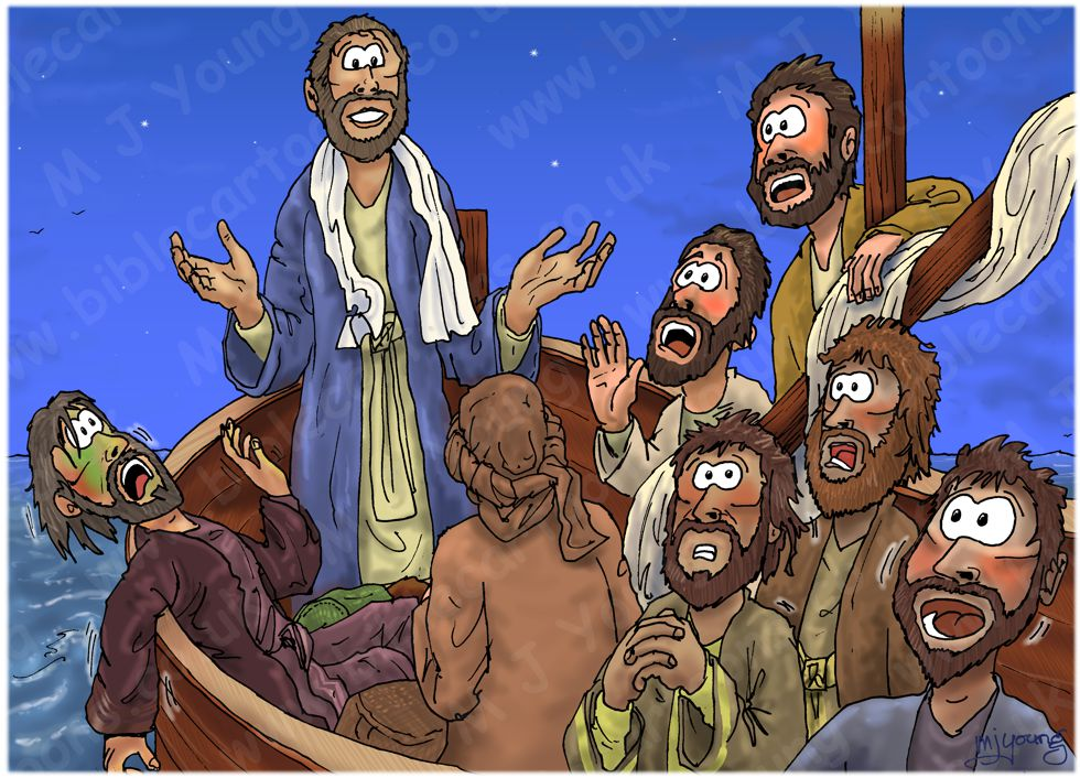 Mark 04 - Jesus calms a storm - Scene 05 - Disciples terrified 980x706px col.jpg