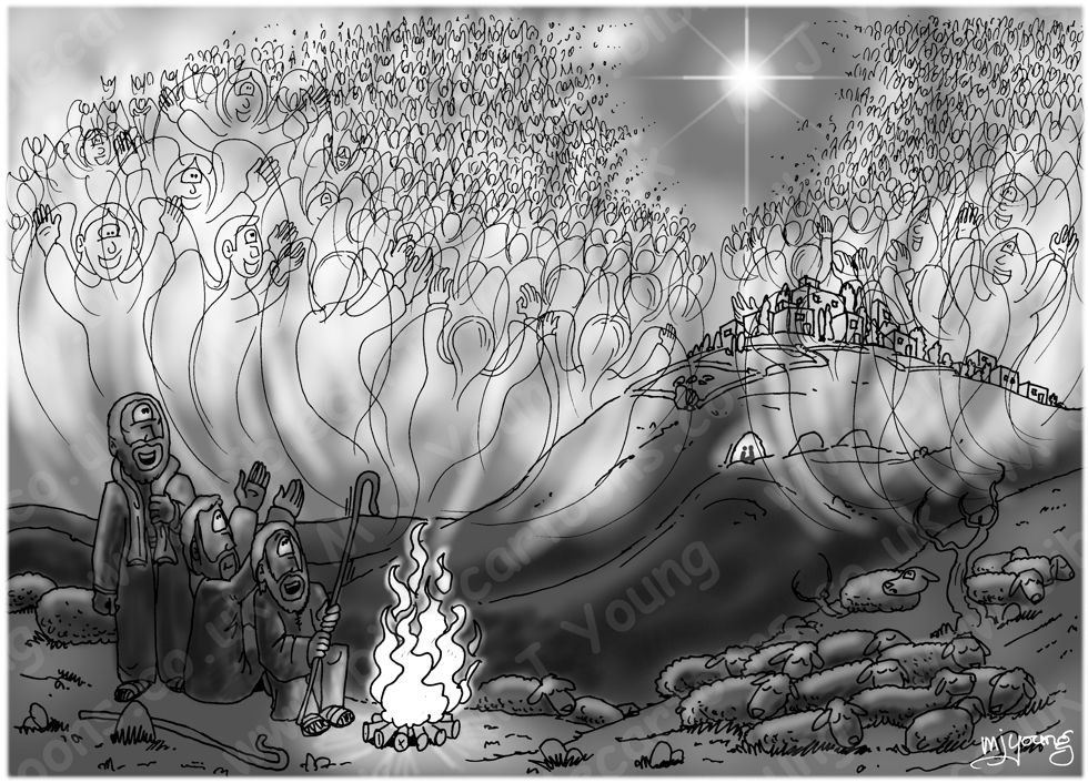 Luke 02 - Nativity SET01 - Scene 05 - Angelic host - Greyscale 980x706px.jpg