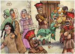 Judges 13 - The birth of Samson - Scene 04 - Samson stirred 980x706px col.jpg