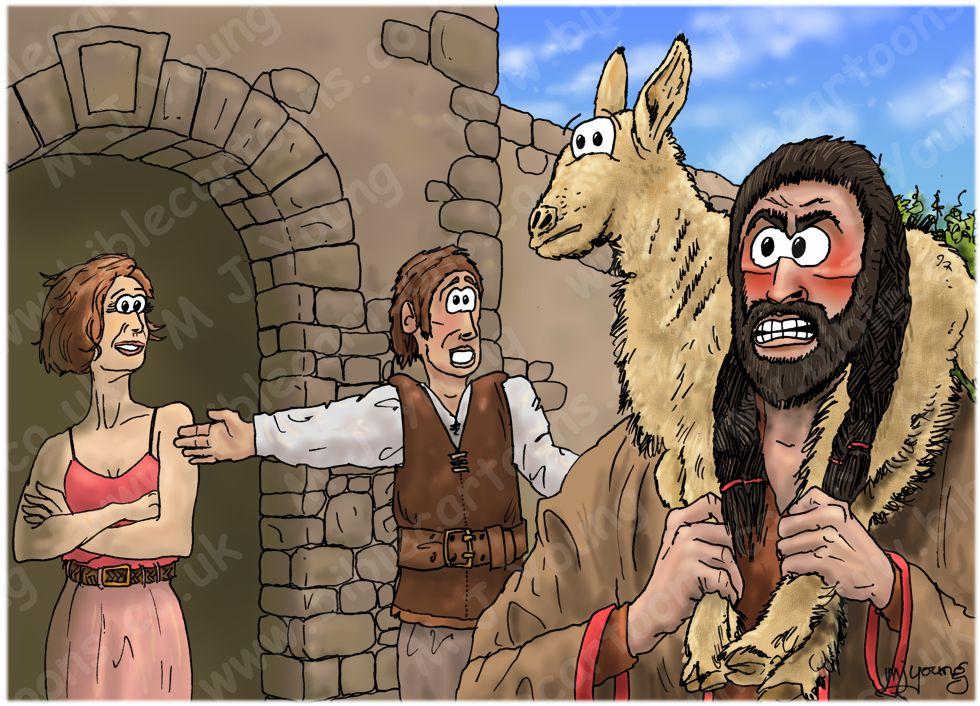 Judges 15 - Samson's revenge - Scene 01 - Refused entry 980x706px col.jpg