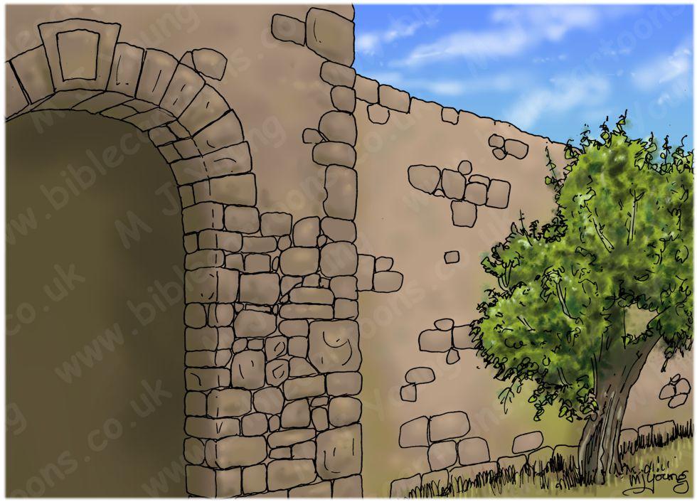 Judges 15 - Samson's revenge - Scene 01 - Refused entry - Landscape 980x706px col.jpg