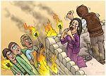 Judges 15 - Samson's revenge - Scene 03 - House burning 980x706px col.jpg