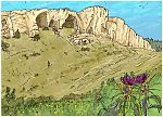 Judges 15 - Samson's revenge - Scene 04 - Walking to Etam cave 980x706px col.jpg