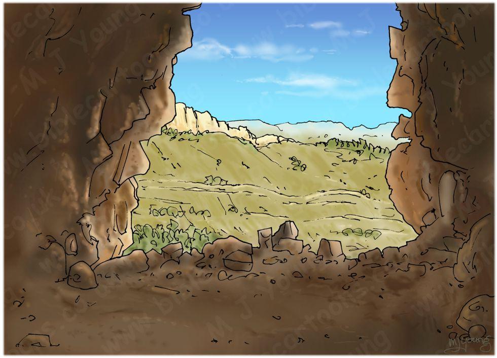 Judges 15 - Samson's revenge - Scene 05 - Etam cave - Landscape 980x706px col.jpg