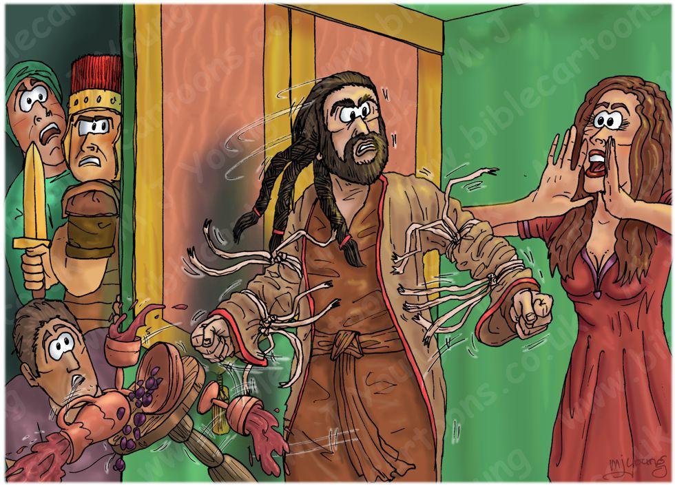 Judges 16 - Samson and Delilah - Scene 04 - Seven fresh thongs 980x706px col.jpg
