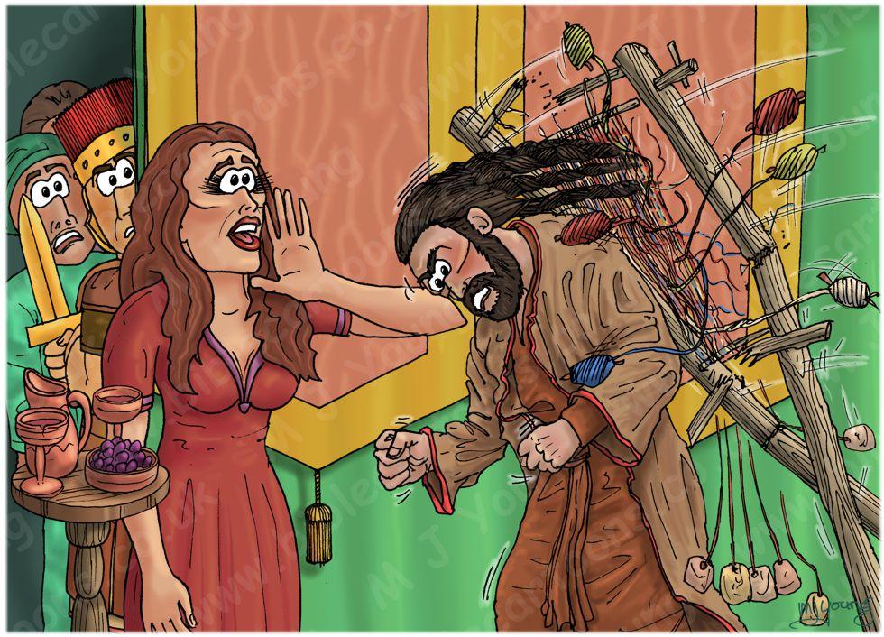 Judges 16 - Samson and Delilah - Scene 06 - Braids and loom 980x706px col.jpg