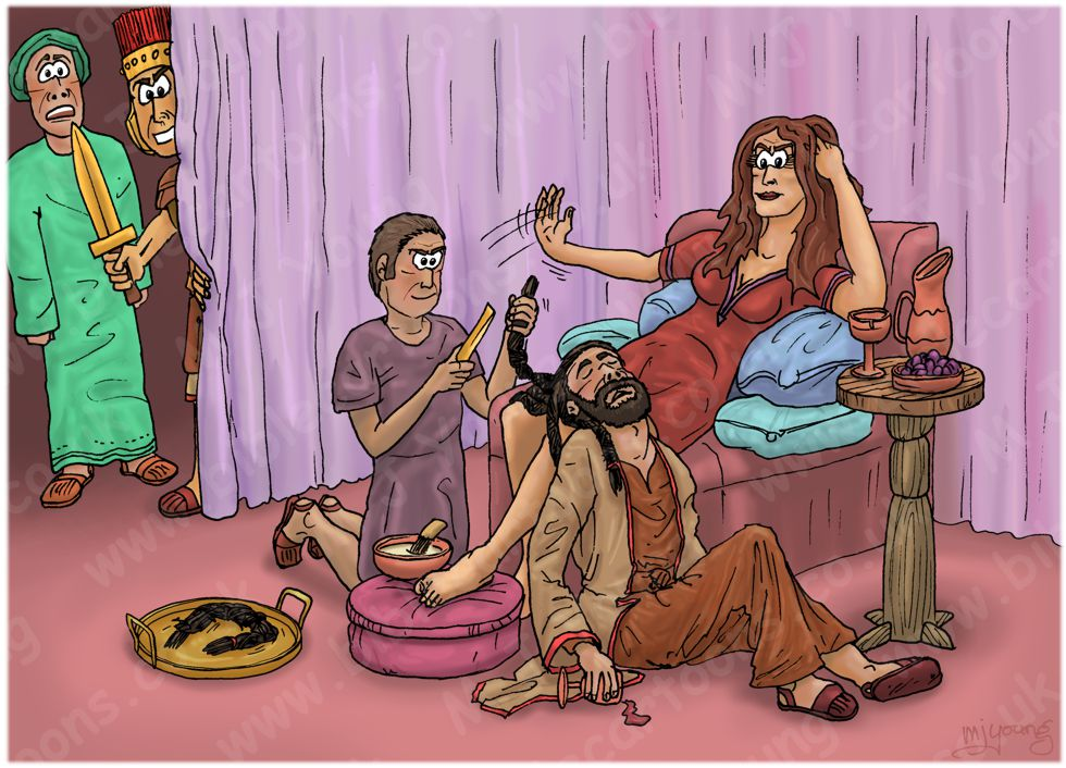 Judges 16 - Samson and Delilah - Scene 08 - Delilah gloating 980x706px col.jpg