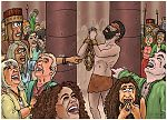 Judges 16 - Death of Samson - Scene 01 - Samson prays 980x706px col.jpg
