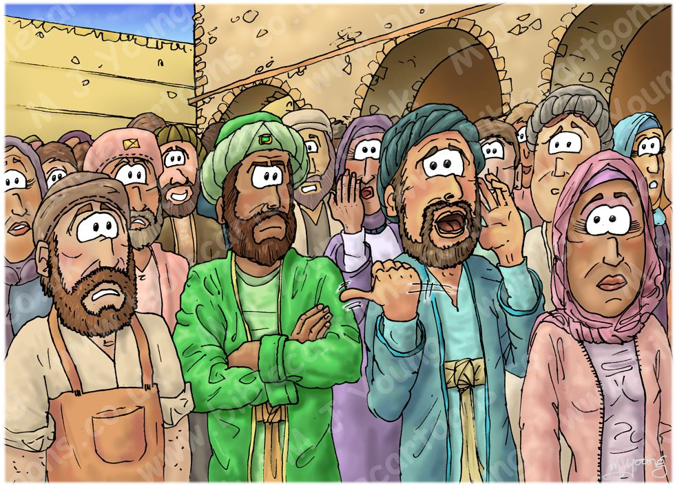 Luke 12 - The Parable of the Rich Fool - Scene 01 - Crowd caller 980x706px col.jpg