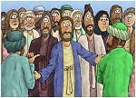 Luke 12 - The Parable of the Rich Fool - Scene 02 - Beware don't be greedy 980x706px col.jpg