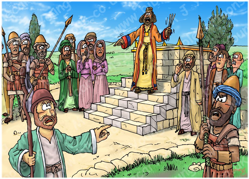 1 Kings 13 - Prophet and lion - Scene 01 - Prophecy against the altar 980x706px col.jpg