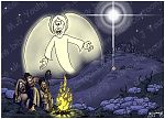 Luke 02 - The Nativity - Scene 04 - Shepherds & Angel (2)