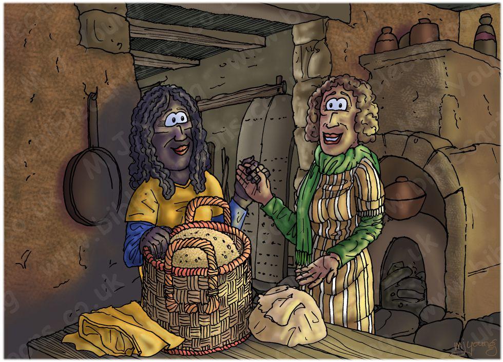 Ruth 02 - Harvesting - Scene 05 - Ruth returns to Naomi 980x706px col.jpg