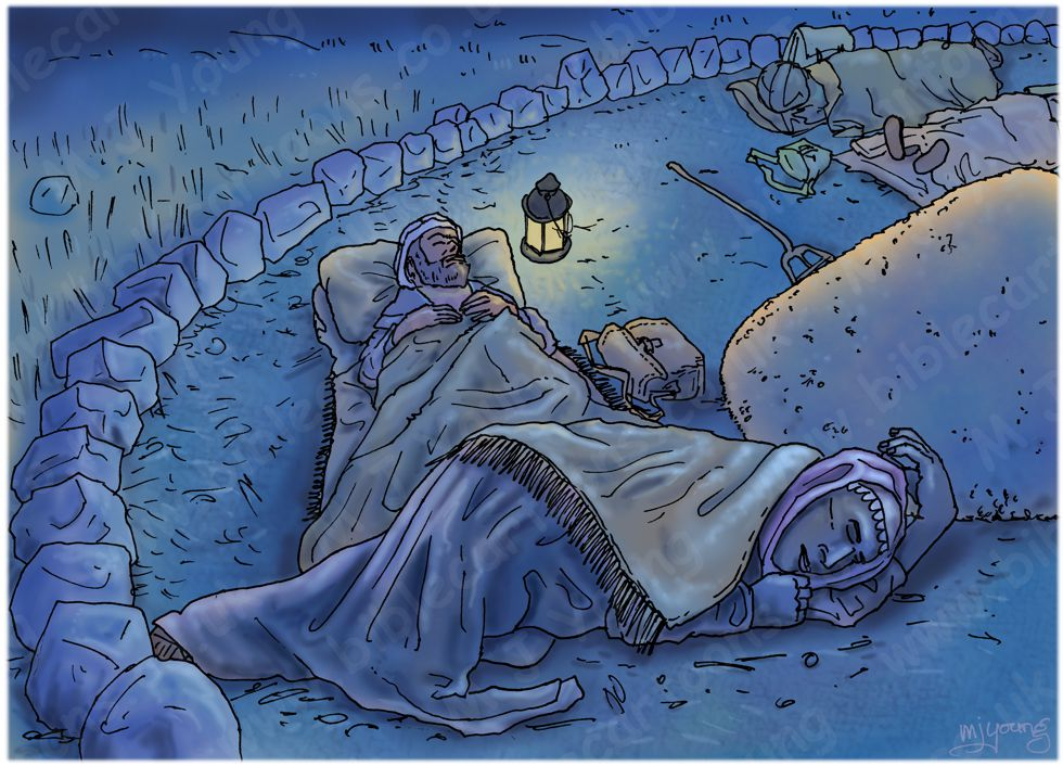 Ruth 03 - Threshing Floor - Scene 01 - Ruth at Boaz's feet 980x706px col.jpg