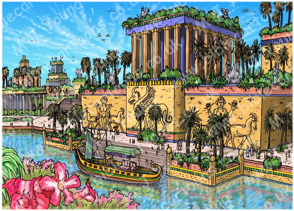 Daniel 01 - Daniel in Nebuchadnezzar's Court - Scene 02 - City of Babylon 980x706px.jpg