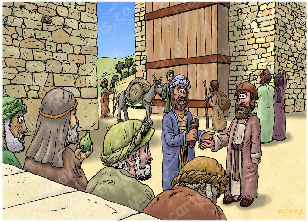 Ruth 04 - Ruth marries Boaz - Scene 01 - Family Redeemer 980x706px col.jpg