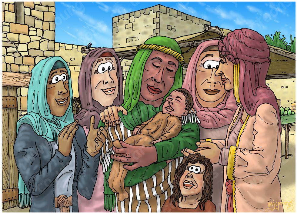 Ruth 04 - Ruth marries Boaz - Scene 03 - Naomi's child care 980x706px col.jpg