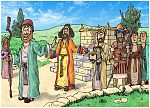 1 Kings 13 - Prophet and lion - Scene 03 - The prophet leaves 980x706px col.jpg