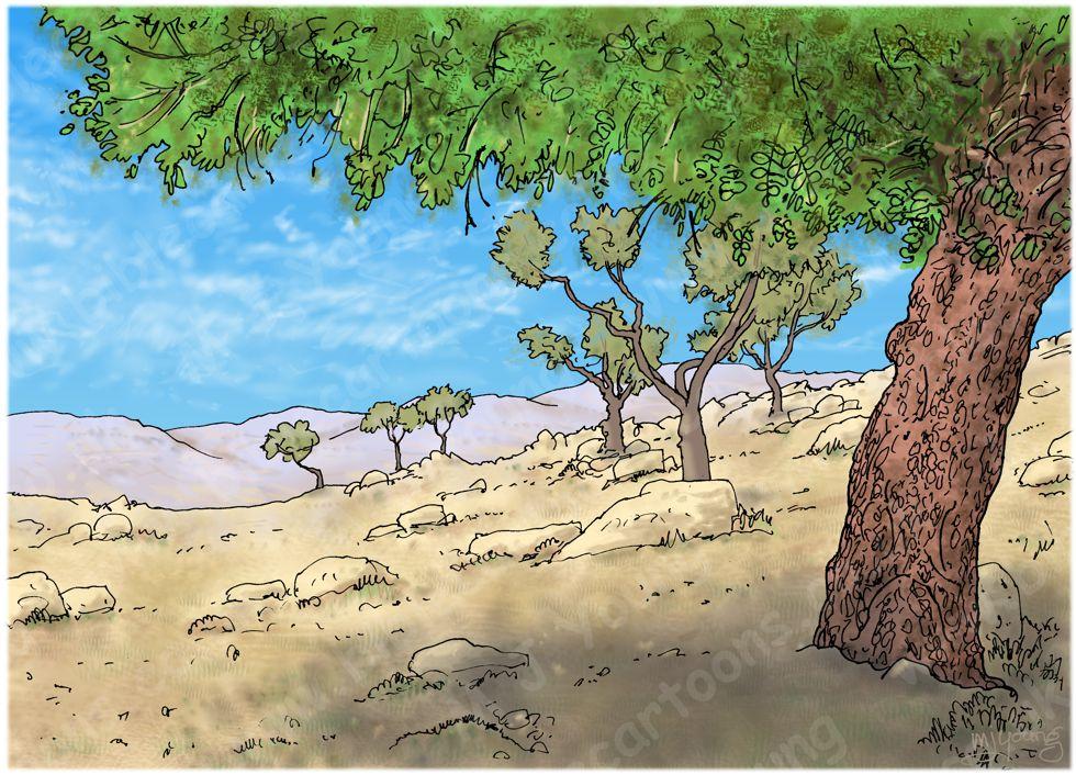 1 Kings 13 - Prophet and lion - Scene 05 - Old prophet's deceit - Landscape 980x706px col.jpg