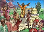 1 Kings 13 - Prophet and lion - Scene 11 - Jeroboam's great sin 980x706px col.jpg