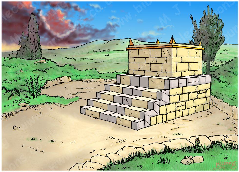1 Kings 13 - Prophet and lion - Scene 11 - Jeroboam's great sin -Landscape 980x706px col.jpg