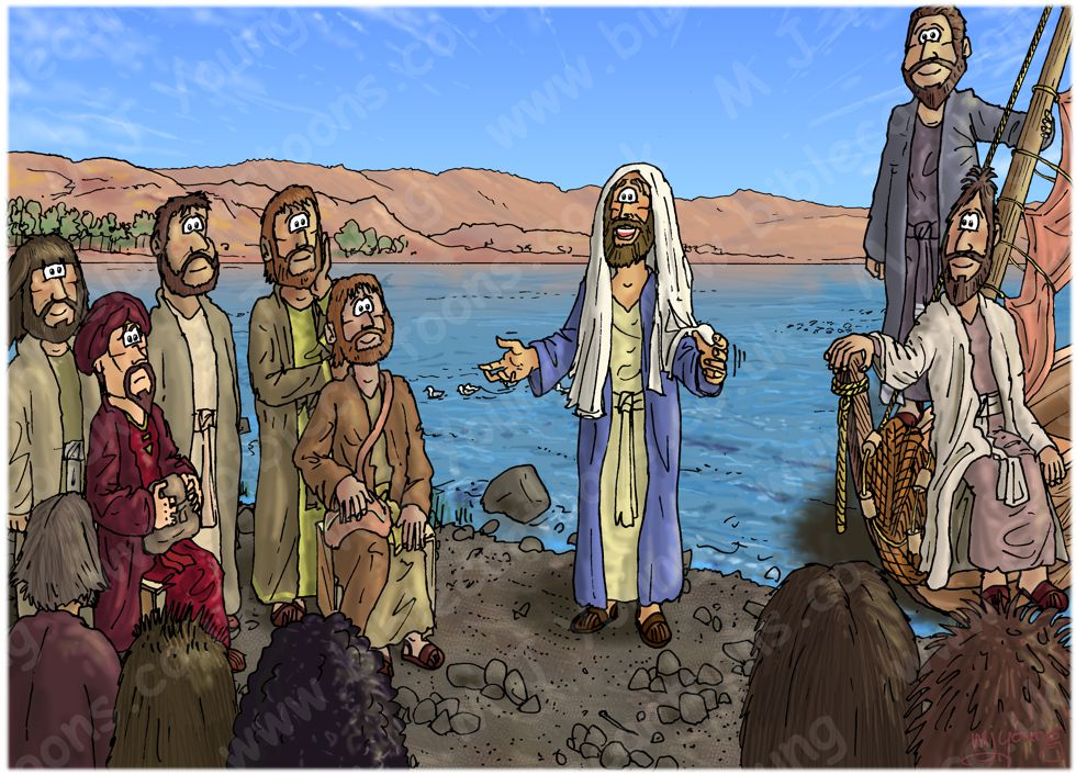 Matthew 13 - Parable of the sower - Scene 06 - Seeing and hearing 980x706px col.jpg