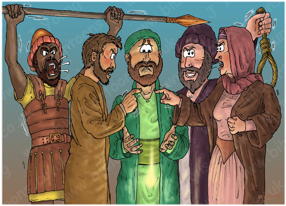 Matthew 13 - Parable of the sower - Scene 08 - Persecution (Man version) 980x706px col.jpg