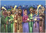Matthew 13 - Parable of the sower - Scene 10 - Good harvest 980x706px col.jpg