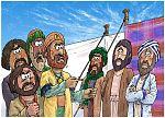 Numbers 16 - Korah's rebellion - Scene 01 - Korah opposes Moses 980x706px col.jpg