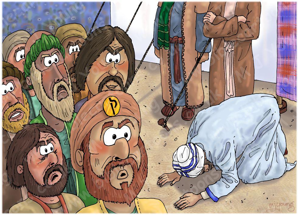 Numbers 16 - Korah's rebellion - Scene 02 - Now listen, you Levites! 980x706px col.jpg