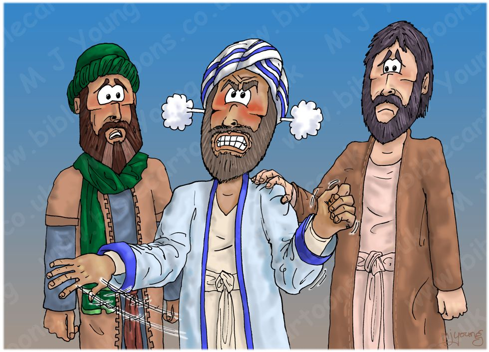 Numbers 16 - Korah's rebellion - Scene 04 - Moses became very angry 980x706px col.jpg