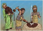 Numbers 16 - Korah's rebellion - Scene 09 - Censers to overlay the altar 980x706px col.jpg