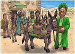 Numbers 22 - Balaam's Donkey - Scene 01 - Saddling up 980x706px col.jpg
