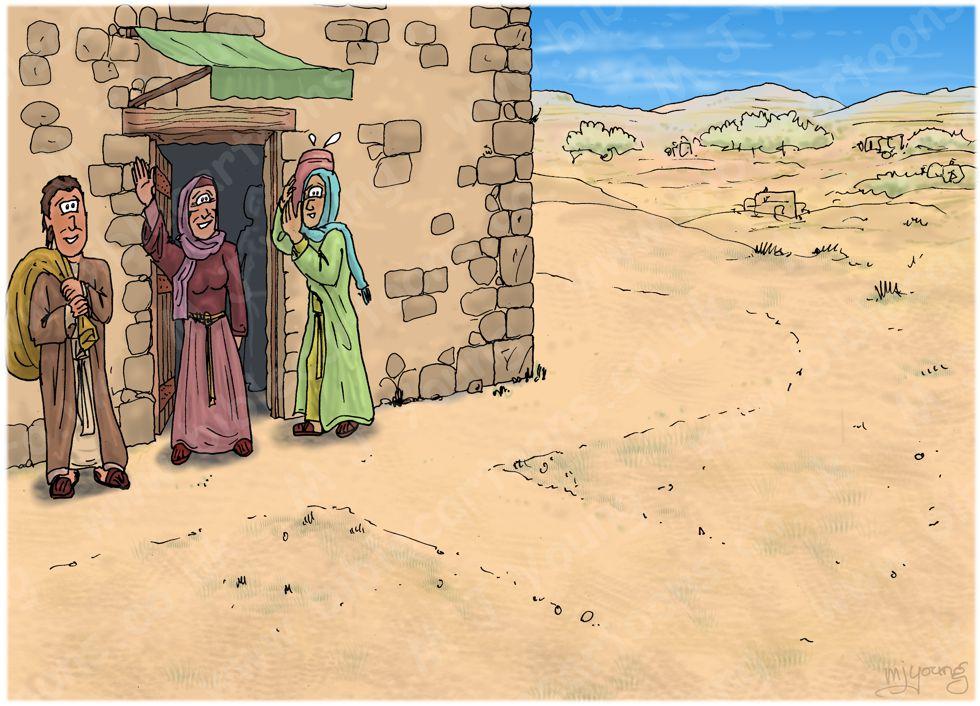 Numbers 22 - Balaam's Donkey - Scene 01 - Saddling up - Landscape 980x706px col.jpg