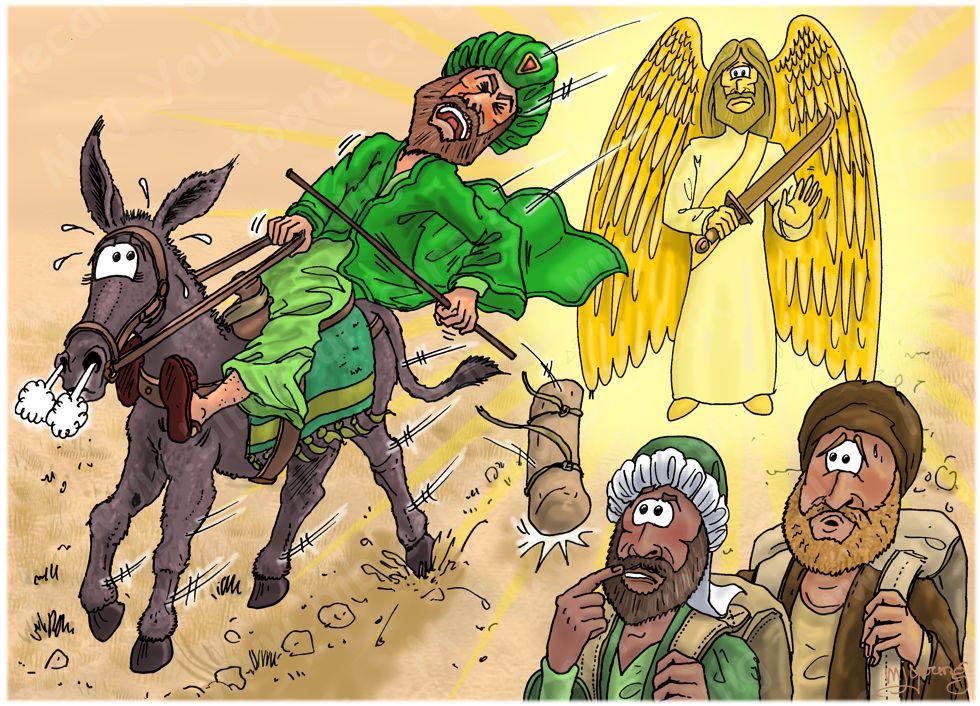 Numbers 22 - Balaam's Donkey - Scene 02 - Angel in road 980x706px col.jpg