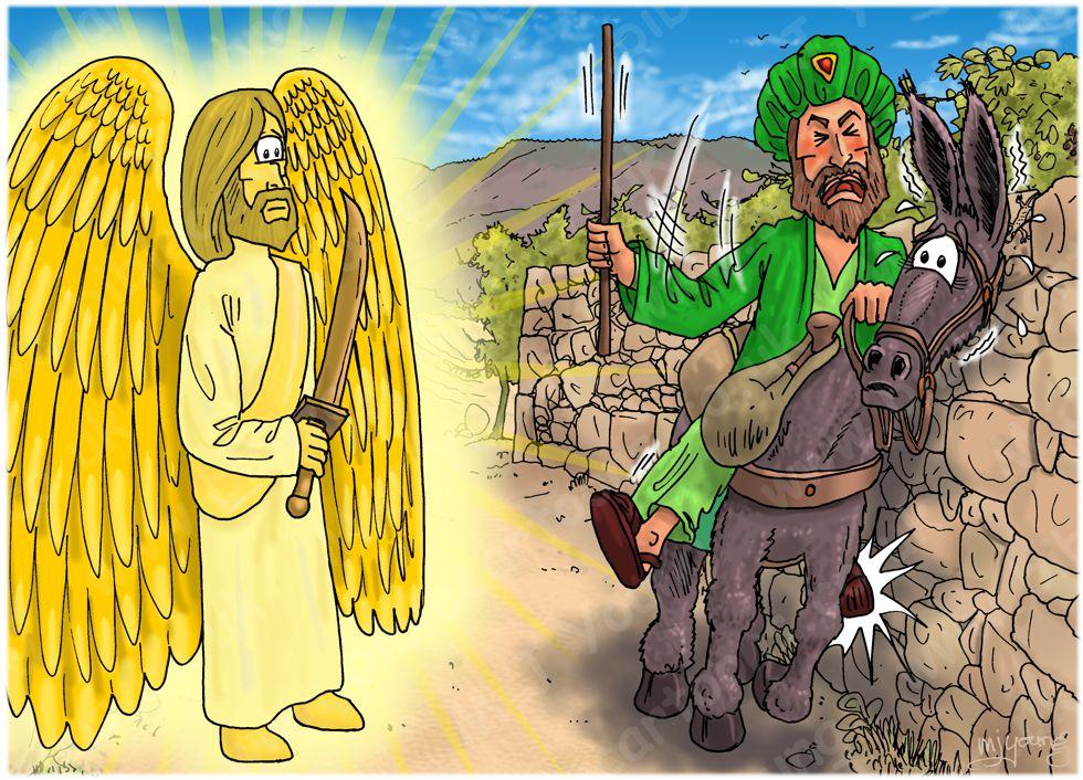 Numbers 22 - Balaam's Donkey - Scene 03 - Crushed foot 980x706px col.jpg
