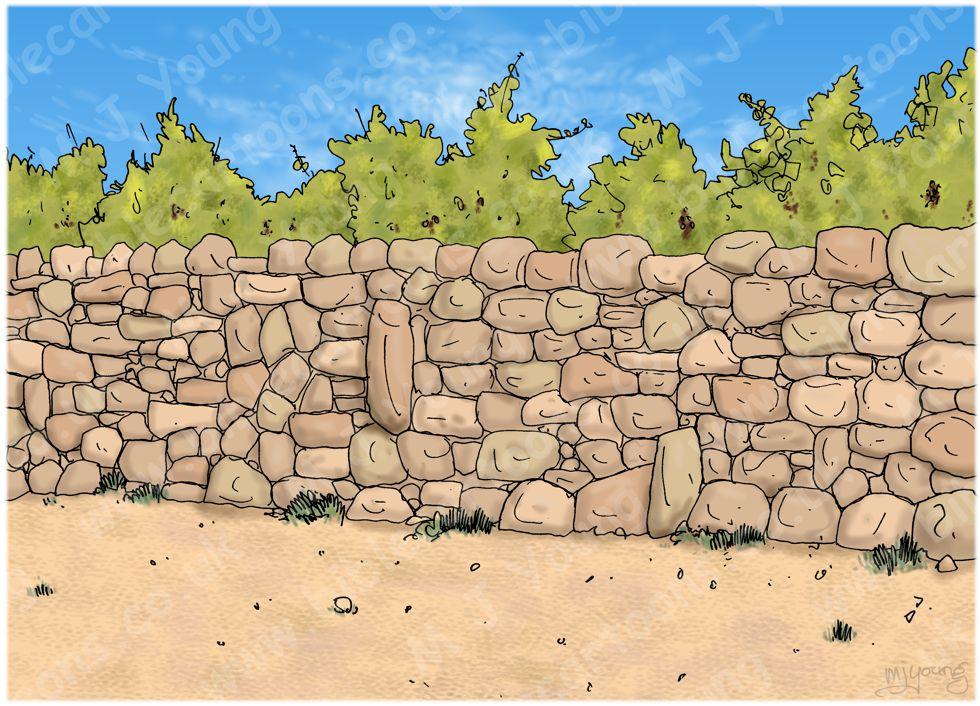 Numbers 22 - Balaam's Donkey - Scene 06 - Angel conversation - Landscape 980x706px col.jpg