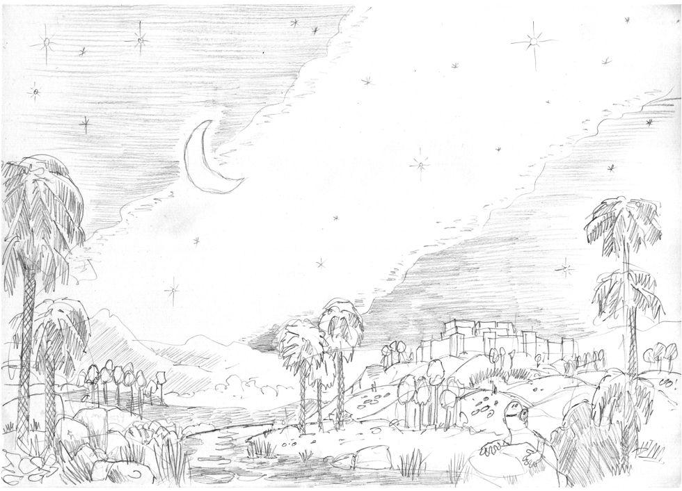 Psalm 19 - Scene 01 - The heavens declare the glory of God Greyscale 980x706px .jpg