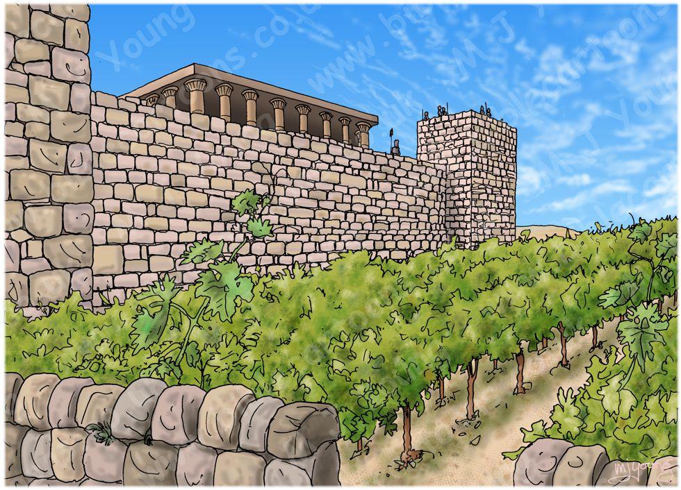 1 Kings 21 - Naboth's Vineyard - Scene 01 - King Ahab's offer (with Vienyard) - Landscape 980x706px col.jpg