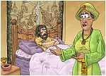 1 Kings 21 - Naboth's Vineyard - Scene 02 - Ahab sulks in bed 980x706px col.jpg