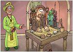 1 Kings 21 - Naboth's Vineyard - Scene 03 - Jezebel's scheme 980x706px col.jpg